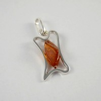 pendant with amber #15